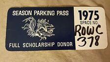 VTG USC Gamecocks 1975 Parking Pass Full Scholarship Donor RARE