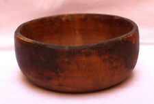 Indian Old Vintage Hand Carved Wooden Bowl Collectible Wd 183