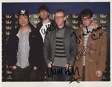 Blur (Band) Fully Signed Photo Genuine In Person Damon Albarn Graham Coxon