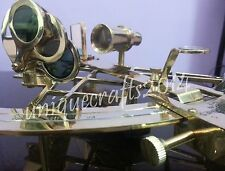 "Vintage Marine Solid Brass Working Sextant 10"" Instrument Christmas Best Gift ."