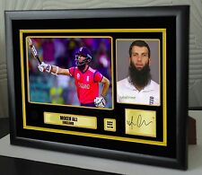 "Moeen Ali England Cricket Framed Canvas Print Signed.""Great Gift or Souvenir"" 2"