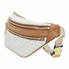 Michael Kors Kenly Medium Waist Pack Belt Bag Signature 35T9GY9N8B VANILLA
