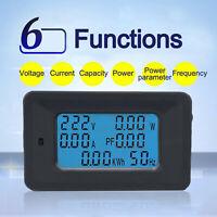 100A AC LCD-Digital Panel Power Watt Meter Monitor Voltage KWh Voltmeter Ammeter