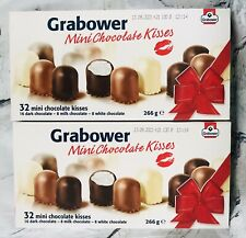 German Grabower 2x boxes 64 pc Mini Chocolate Marshmallow Kisses Gift Idea