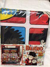 Beano Dennis  & Gnasher squares comic cartoon Double Duvet Cover  Bedding set