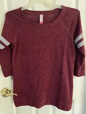 New listing WOMENS PLUM RUGBY STYLE SHIRT BY NO BOUNDARIES --- SIZE : LARGE