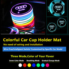 2pcs Colorful LED Coaster Atmosphere Car Parts Light Bulbs For Audi Neon Lights