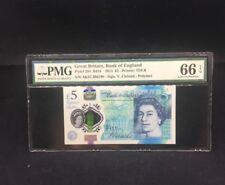 "2015 Great Britain, Bank Of England QE II £5 P-394 ""AK47"" Prefix PMG 66 EPQ"