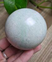 58mm AMAZONITE Sphere Crystal Stone Reiki Charged Healing 10.6oz *Read Below*