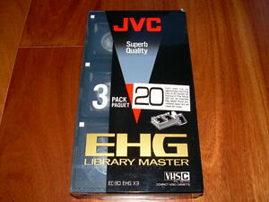 RARE Brand New Sealed JVC VHS-C Superb Quality Tapes 3-pack 60-Minute Extended