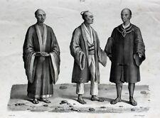 Japan Kimono Tokio Nippon Tracht Jimbei Zōri Seide Säbel Samurai Schwert Frisur