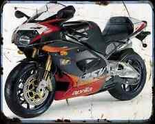 Aprilia Rsv1000R 99 5 A4 Metal Sign Motorbike Vintage Aged