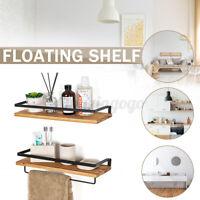 Floating Shelf Rack Wall Hanging Rustic Wood Bathroom Living Room Bedroom @