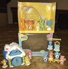 Care Bears Care-a-lot Bedtime Bear House Play Set Tenderheart Rare 2003 & Extras