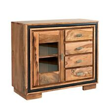 Small Sideboard with glass door Stone Sheesham Collection SN05