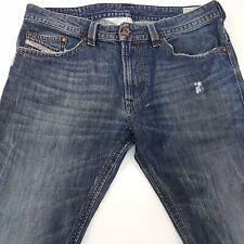 Diesel THAVAR Mens Jeans W33 L32 Dark Blue Slim Fit Skinny Mid Rise