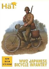 Hat 1/72 Plastic WWII Japanese Bicycle Infantry figures Set 8278 New In Box!