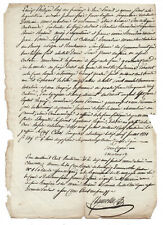 1851 manuscript justice document with very nice signature DAMAGED authentic