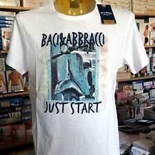 T-shirt Uomo Baci & Abbracci Manica corta Girocollo con Stampa Vespa Art Bam2509 Denim Blu XL