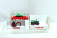 Wiking N 0946  - 960 Fendt Trecker - mini Bagger und Porsche IMU 12018 - OVP