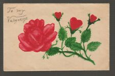 "[71179] Vintage Hand Colored ""To My Valentine"" Cover"