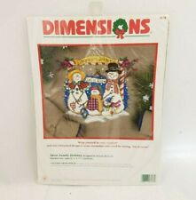 Vintage Dimensions Snow Family Holiday Cross Stitch Kit 9 ×7.5 Finish Free Ship