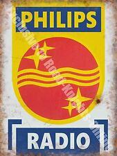 Philips Radio, 146 Electronics Retro Vintage Advertising, Large Metal/Tin Sign
