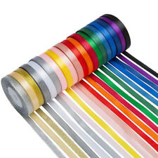 50 100 Yard Satin Ribbon Glitter Metallic Roll Assorted Color Bows Gift Wrapping