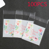 Biscuit Thank you Packaging Bag Cookie Bags Wrapping Supplies Candy Pockets