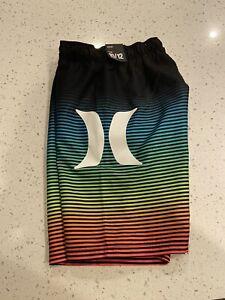 Boys Hurley Board Shorts Swim Trunks Size 10-12 NWT!