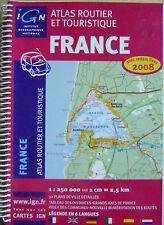Atlas routier et touristique carte de France légendes en 6 langues /O22