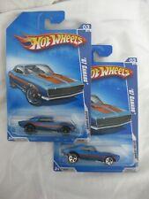 Hot Wheels Rare 2009 '67 Camaro Redline & spk5 Black Wheel Variations Mint/Card
