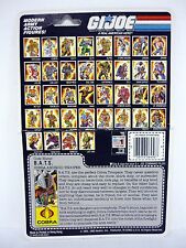 GI JOE COBRA BAT FILE CARD Vintage Figure FULL / UNCUT / GOOD SHAPE 1986