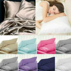 100% Pure Mulberry Silk Pillowcase Luxurious 6 Colours Home Bedding Accessories.