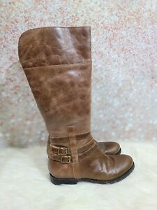 MATISSE Size 8 M Blakely Brown Distressed Leather Knee High Boots Women