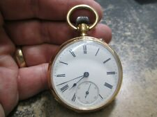 IWC INTERNATIONAL WATCH CO MENS 14K GOLD RUNNING Pocket Watch