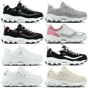Skechers D lites Women's Sneaker Sport Shoes Trainers Leisure Fitness Shoes New
