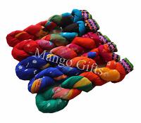 Handmade Tie-Dye Cotton Scarves Stole Dupatta Multi Coloured Women Scarf Lot 5Pc