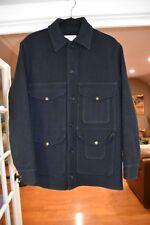 Vintage CC FILSON 100% Wool Navy Mackinaw Cruiser Jacket Style110 Coat Size M 40