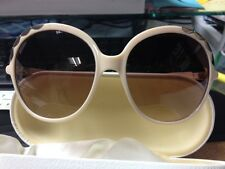Chloé Sunglasses Cl2222-C03 Ivory Beige frame w/ Gold trims w/ case, cloth & box