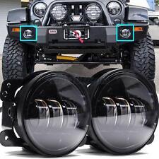 "2Pcs 30W 4"" inch Led Fog Light for Jeep Wrangler LJ JK TJ CJ Bumper Tractor"