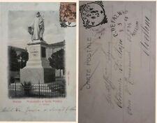 AREZZO-MONUMENTO A GUIDO MONACO-- viaggiata nel  1904 vedi...
