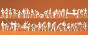 Firemen (42) Unpainted Figures Preiser 16329