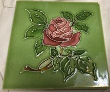 T & R Boote - Rose Flower - Antique Majolica Tile
