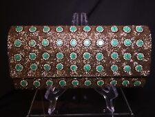 Deepa Gurnani Exceptional Detailing Beaded Evening Bag Minaudière *NEW*