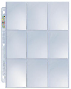 Ultra Pro Platinum 9 Pocket Pages 50 count for standard cards