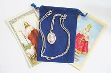 Infant of Prague Saint Medal with 24 Inch Necklace
