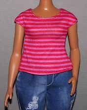 Barbie Doll Clothes Fashionista Evolution Curvy Striped Top Shirt