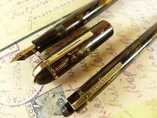 Eversharp Skyline Demi Brown Moire Fountain Pen and Pencil  Flex Nib - restored