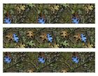Mossy Oak Camo with blue leaves edible cake strips cake topper decorations